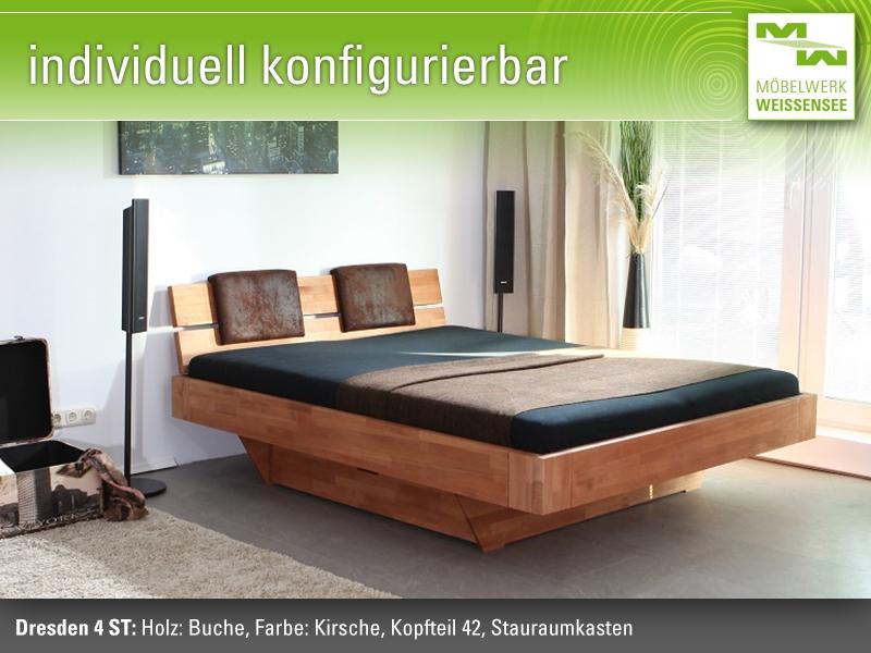 stauraumbett dresden 4 massivholz schubladenbett 140 cm x 200 cm aktuellesdesign ebay. Black Bedroom Furniture Sets. Home Design Ideas