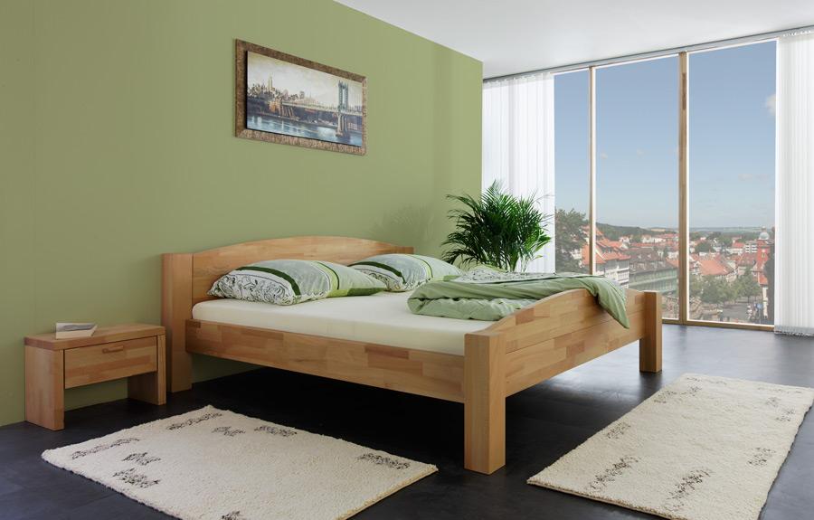 holzbett massivholz bett 200x200 natur ge lt betten neu ebay. Black Bedroom Furniture Sets. Home Design Ideas