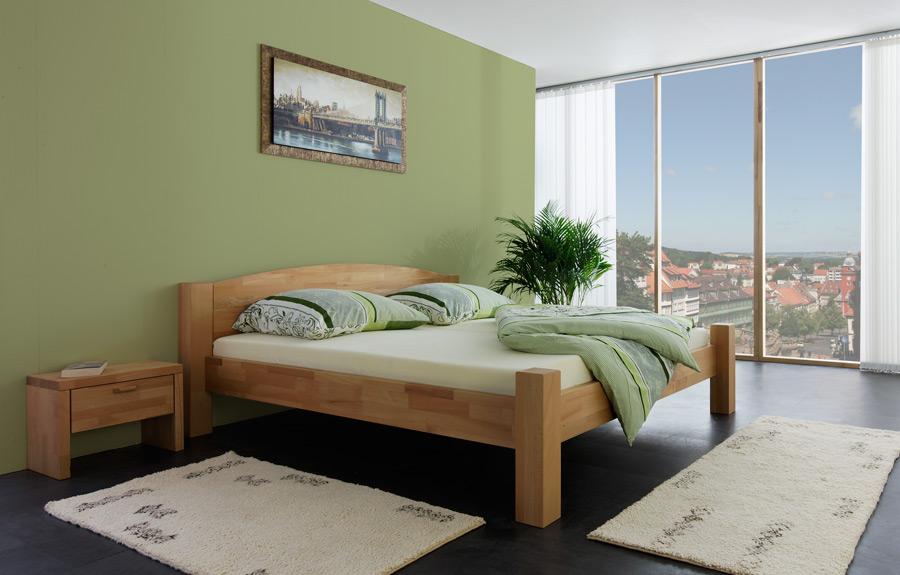 klassisches massivholz bett 180x200 natur betten neu ebay. Black Bedroom Furniture Sets. Home Design Ideas