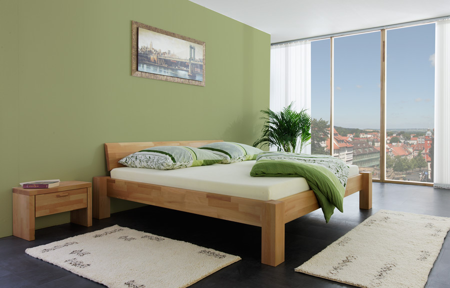 holzbett massivholz bett 140x200 natur ge lt betten neu ebay. Black Bedroom Furniture Sets. Home Design Ideas