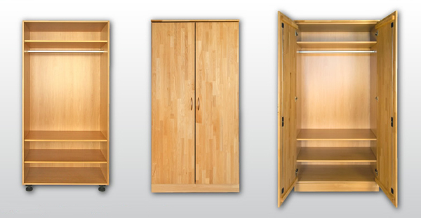kleiderschrank schlafzimmerschrank 80cm x 200cm x 60cm schrank 2 t rig ebay. Black Bedroom Furniture Sets. Home Design Ideas