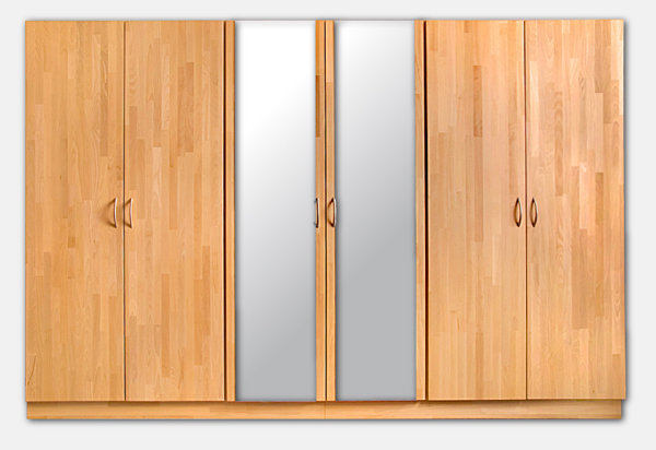 kleiderschrank 300cm x 200cm x 60cm schrank 6 t rig. Black Bedroom Furniture Sets. Home Design Ideas
